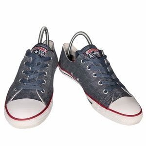 Converse All Stars low  top denim color sneakers